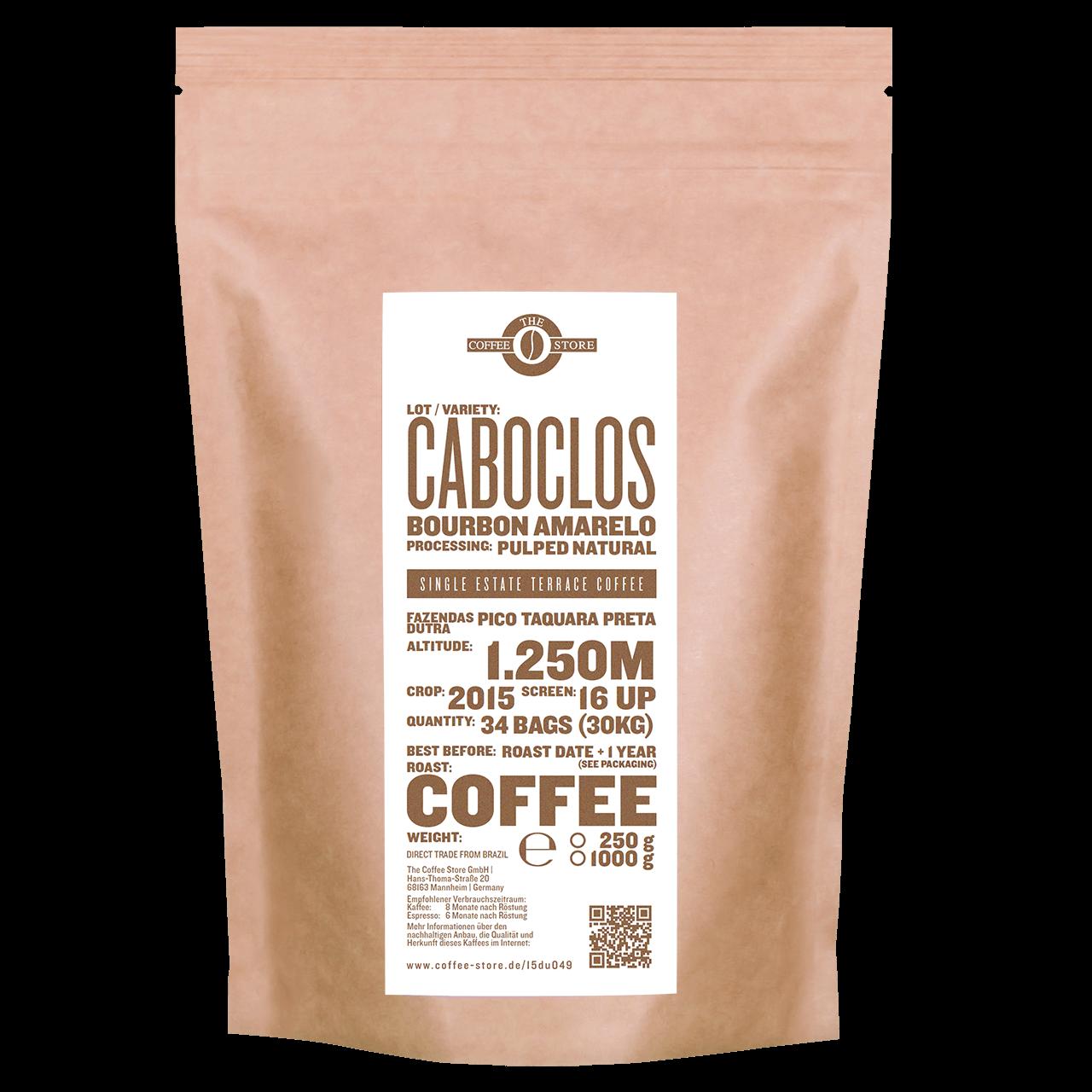 Caboclos, Bourbon amarelo - Kaffeeröstung