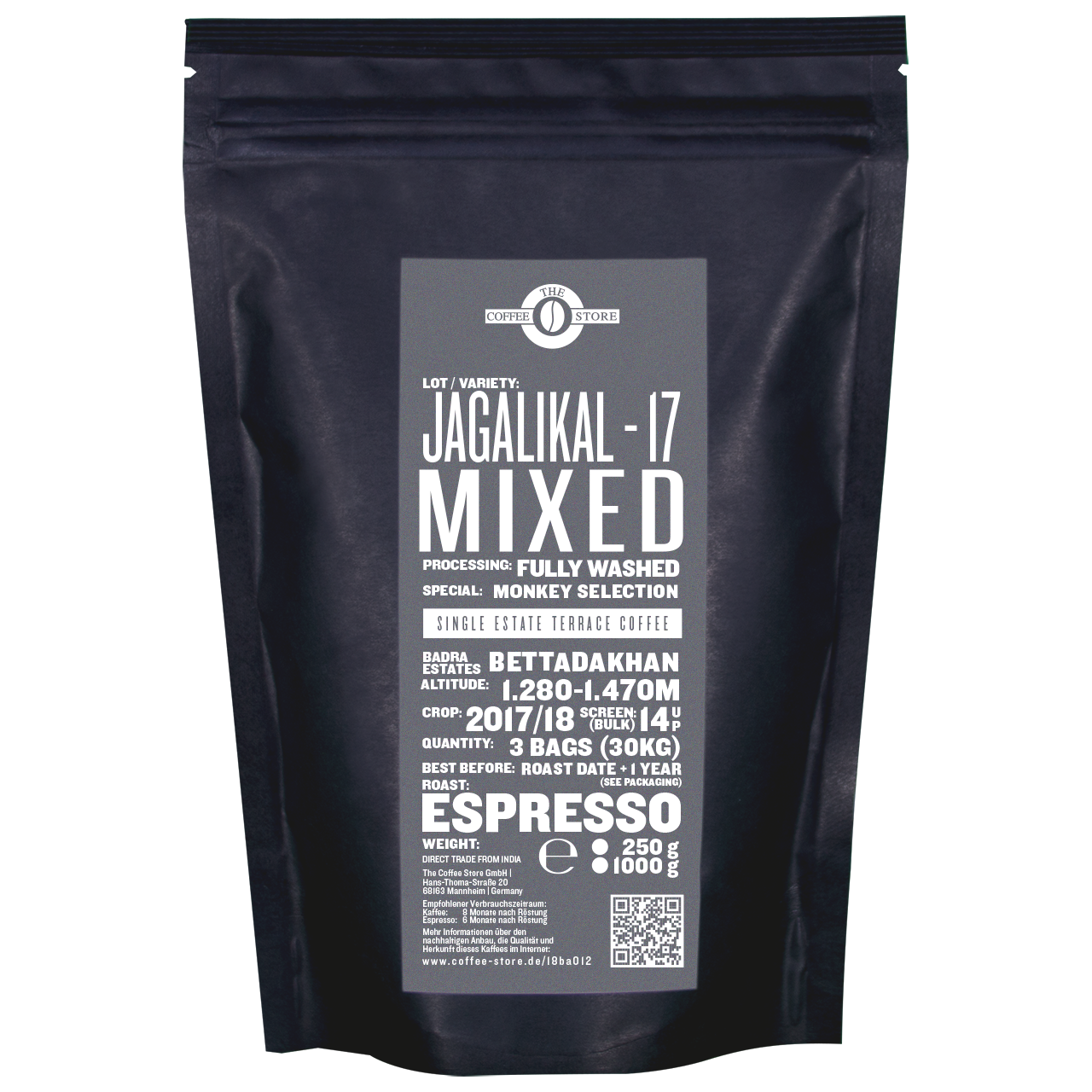 Jagalikal-17, Mixed Monkey Selection, Espressoröstung