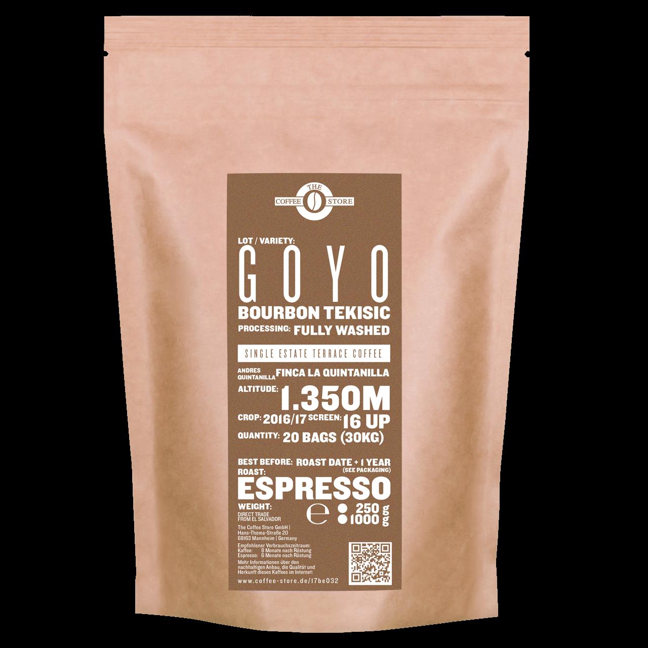 Goyo, Bourbon Tekisic - Espressoröstung
