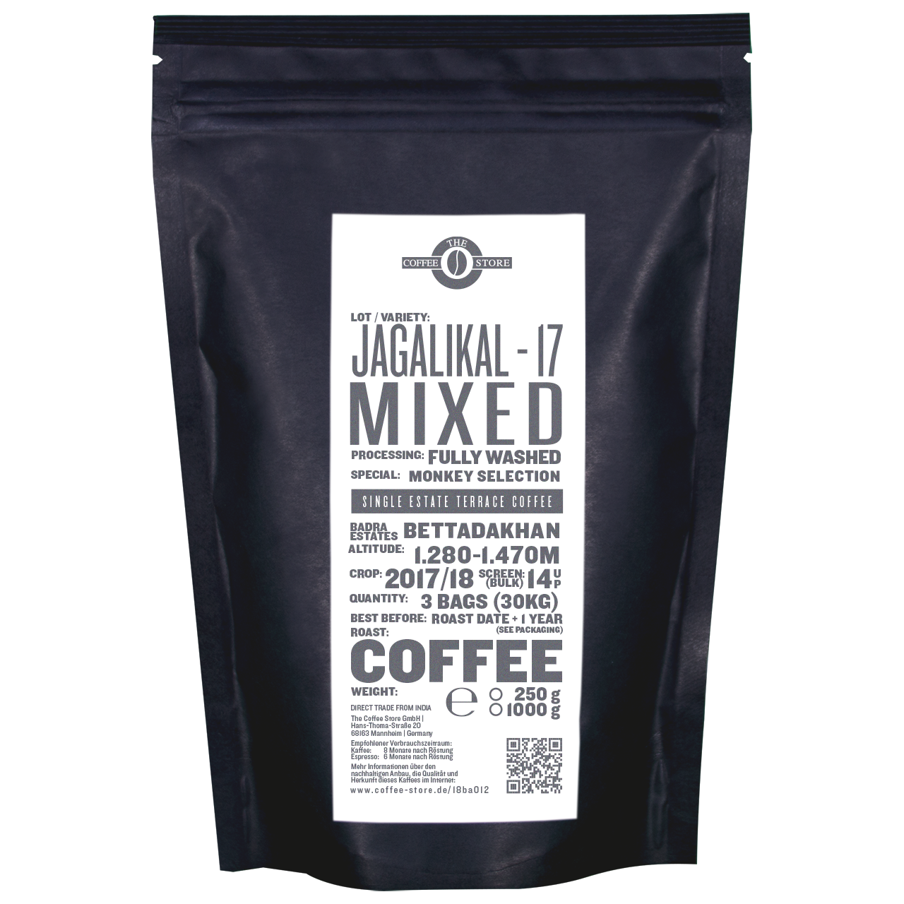 Jagalikal-17, Mixed Monkey Selection, Kaffeeröstung