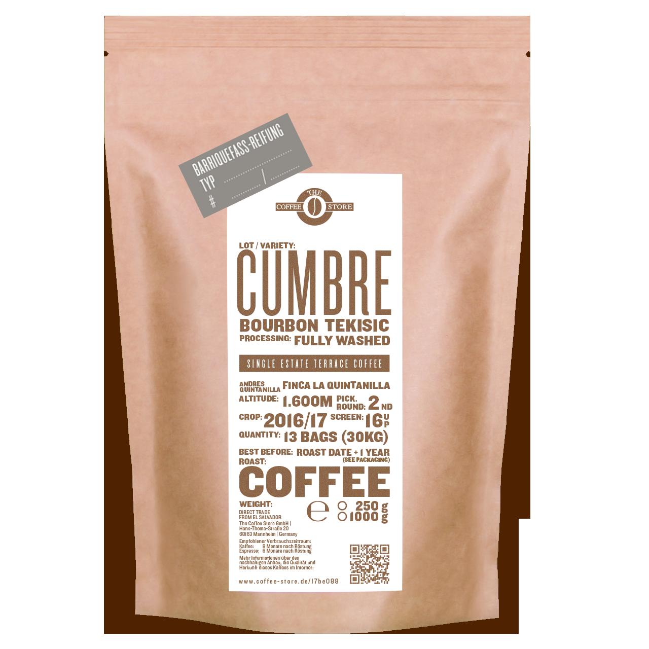 """Cumbre Fass-Reifung """"Ron Zacapa Rum"""" - Kaffeeröstung"""