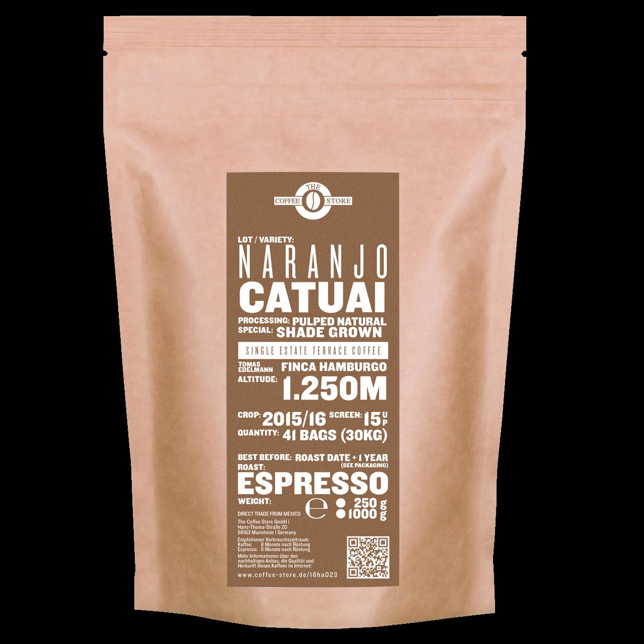 Naranjo, Catuai - Espressoröstung