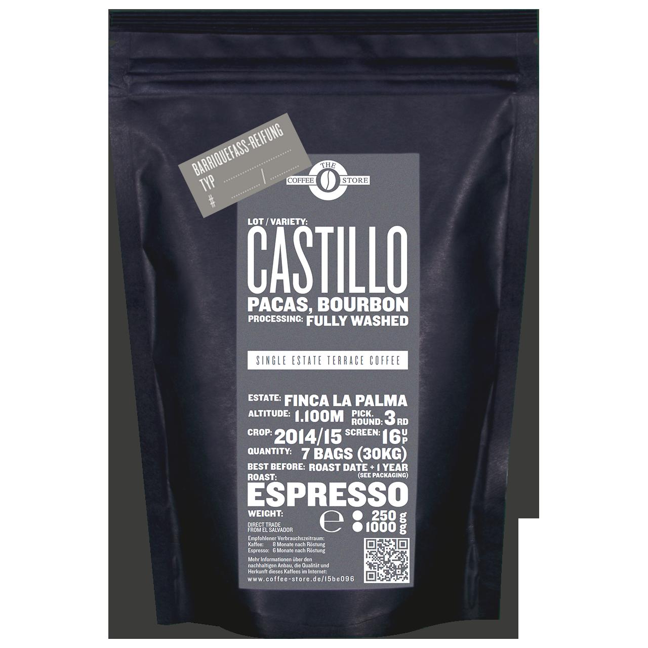 "Castillo Fass-Reifung ""Px Sherry Whisky"" - Espressoröstung"