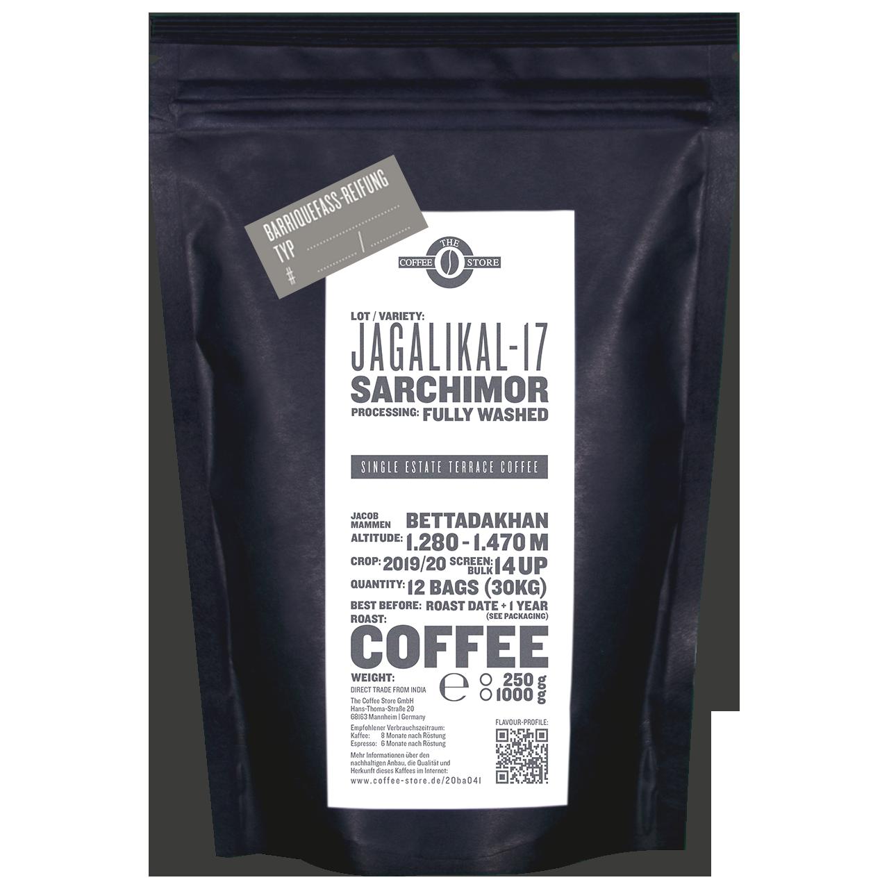 """Jagalikal-17 Fass-Reifung """"Iron Balls Gin"""" - Kaffeeröstung"""