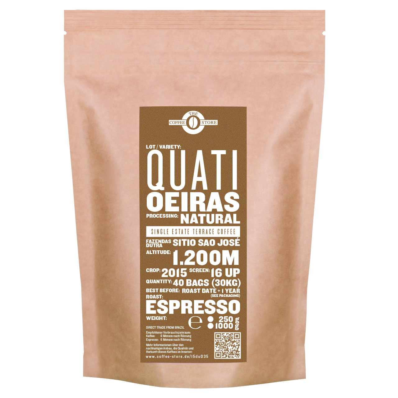Quati, Oeiras - Espressoröstung