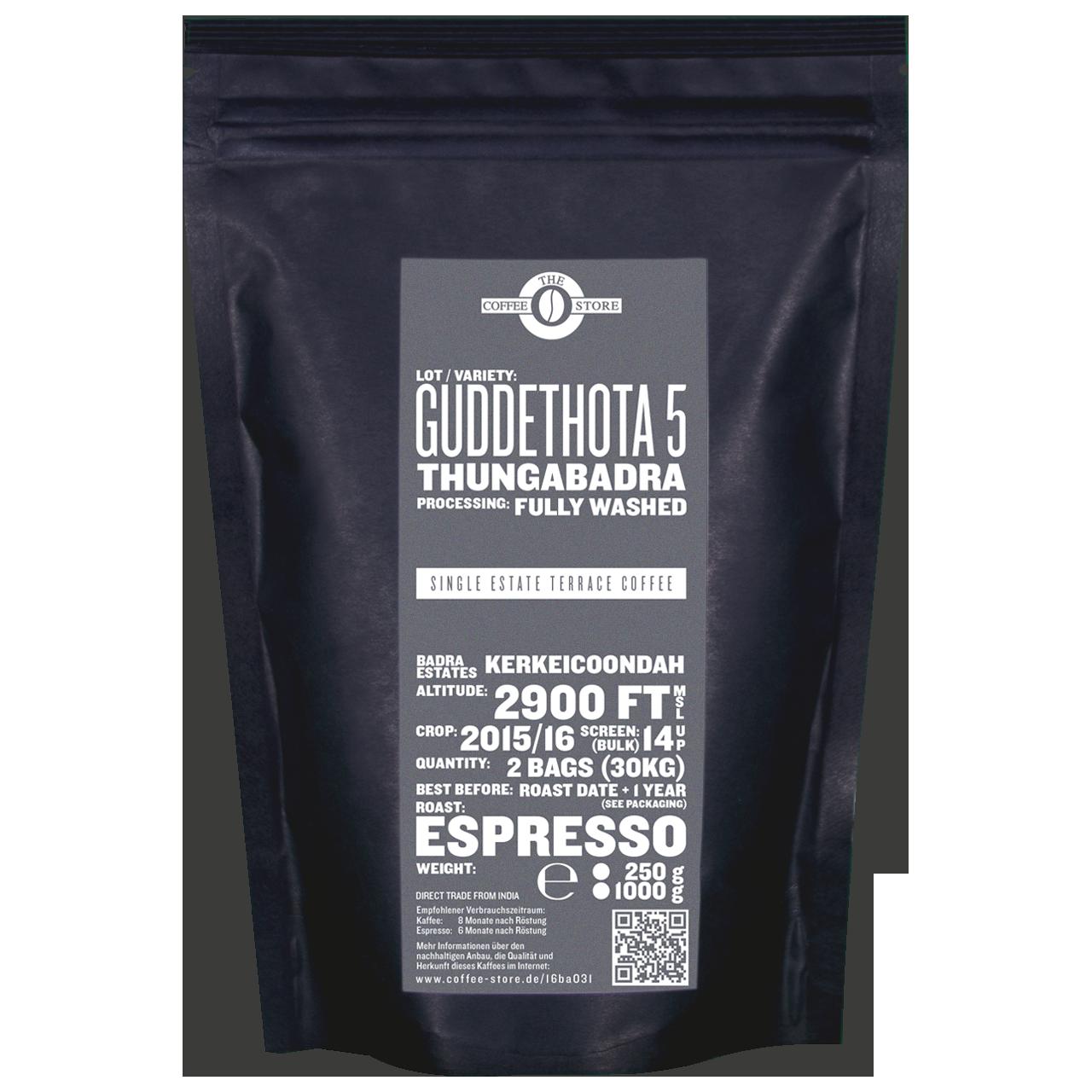 Guddethota - 5, Thungabadra - Espressoröstung