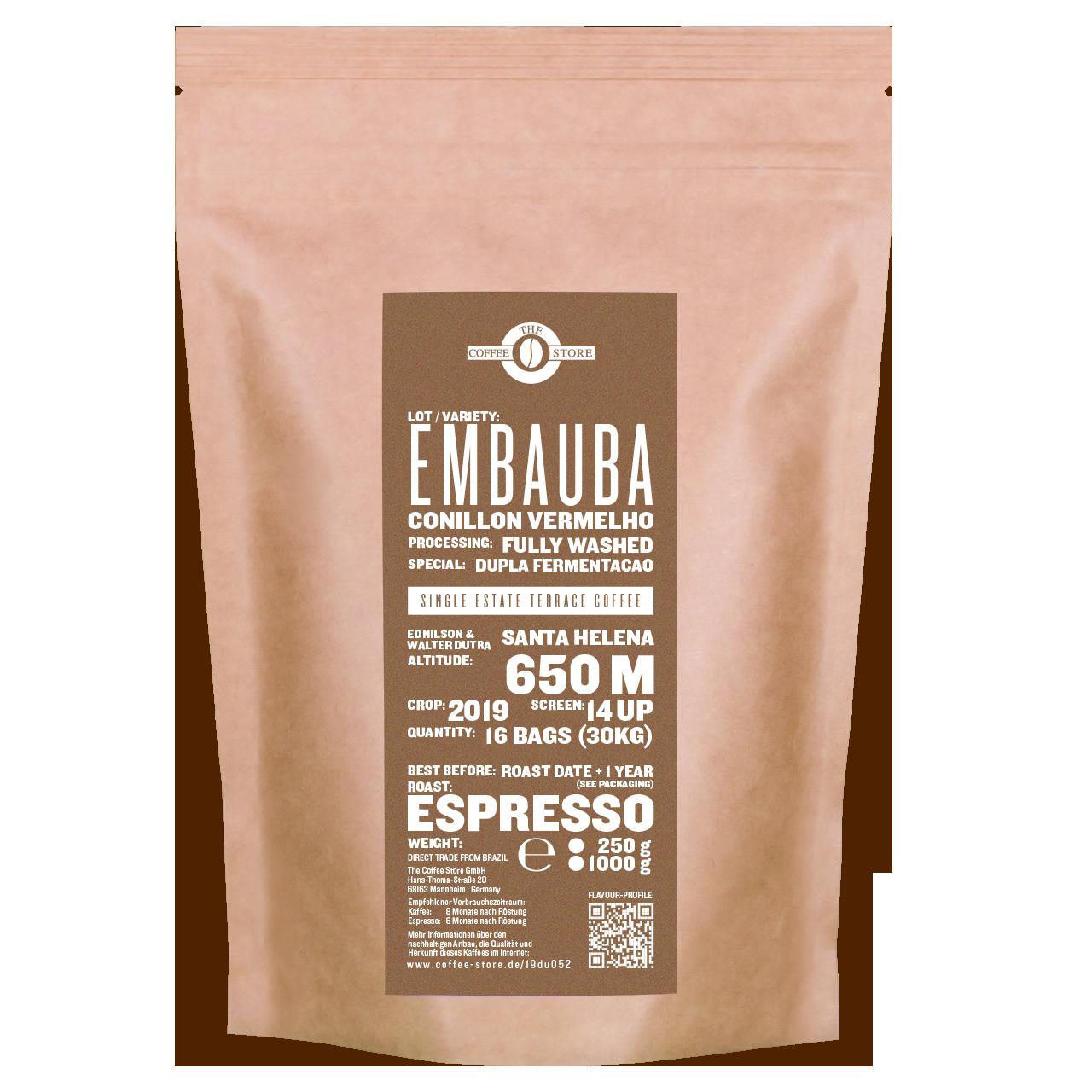 Embauba, Conillon vermelho - Espressoröstung