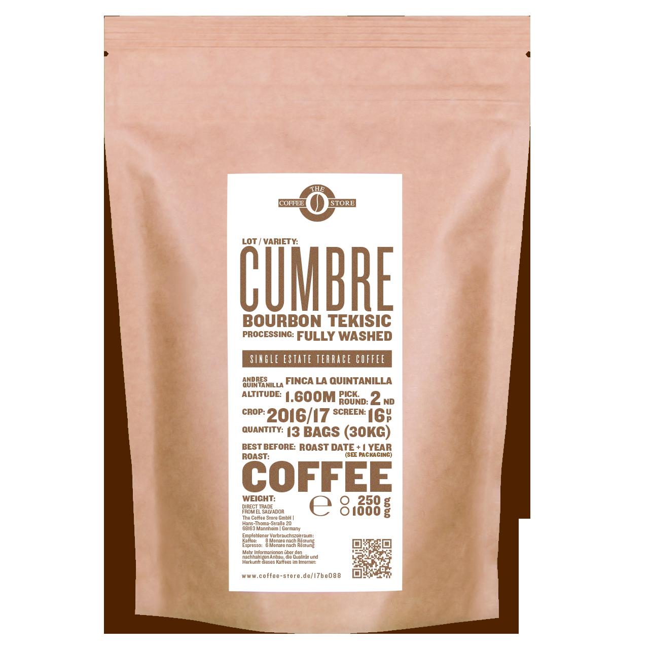 Cumbre, Bourbon Tekisic - Kaffeeröstung
