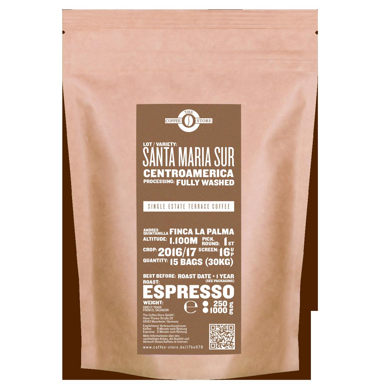 Santa Maria, Centroamerica - Espressoröstung