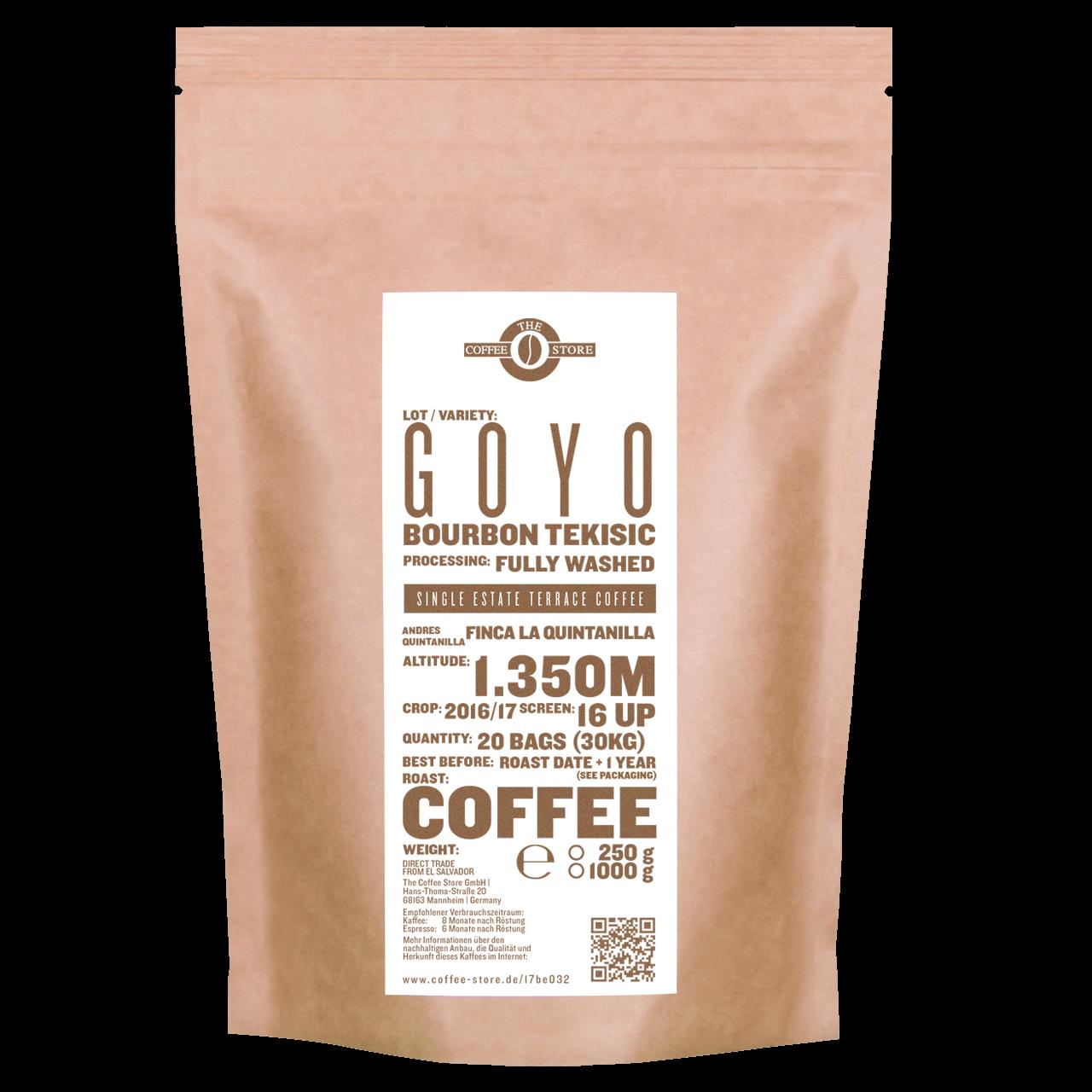 Goyo, Bourbon Tekisic - Kaffeeröstung