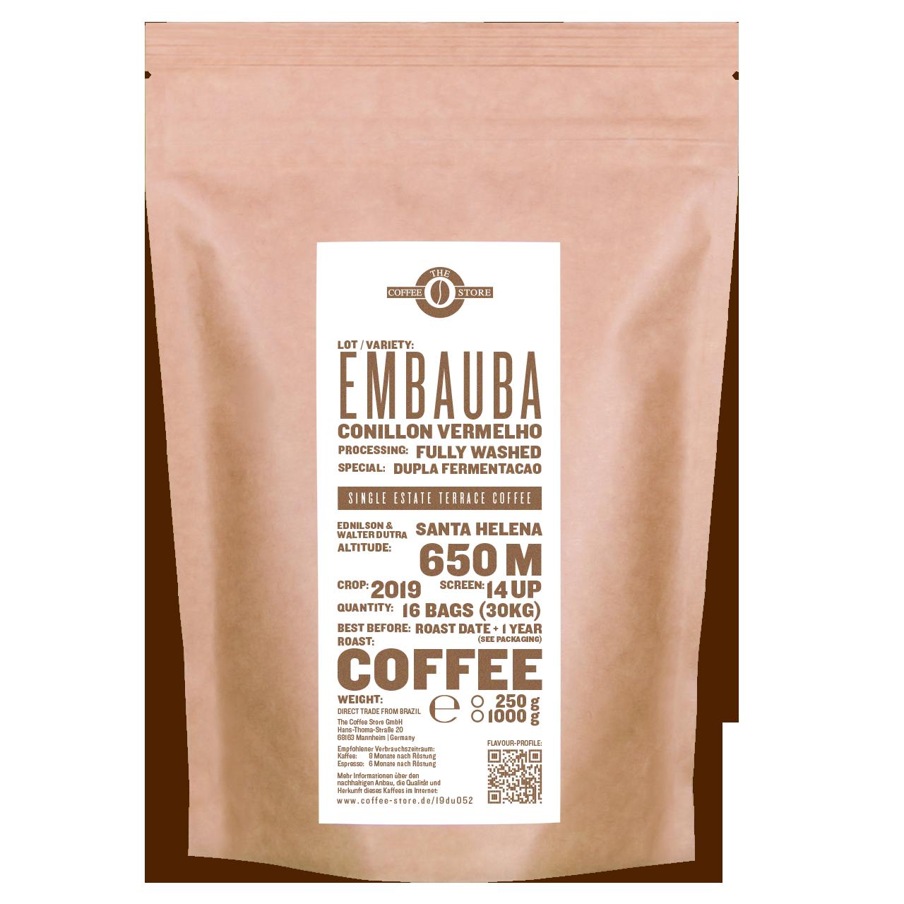Embauba, Conillon vermelho - Kaffeeröstung